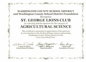 Washington County School District Foundation 2014