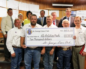 $10,000 for the All Abilities Park